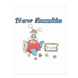 New Auntie - Aeroplane Tshirts and Gifts Postcard