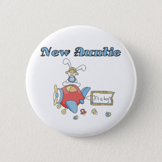 New Auntie - Airplane Tshirts and Gifts 6 Cm Round Badge
