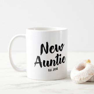 New Auntie Est. 2018, Future Aunt Gift Coffee Mug