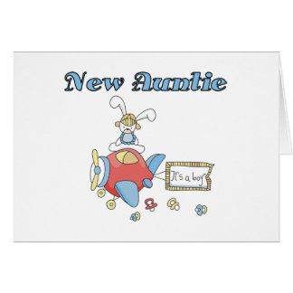 New Auntie of Baby Boy Card
