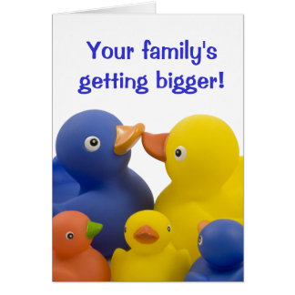 New babies in the family -  Duck Family Group Greeting Card