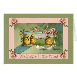 New Babies, Triplets, Welcome to the world Card