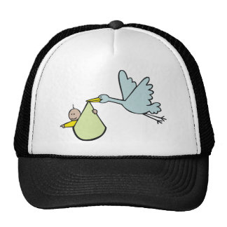 New Baby and Flying Stork Cap