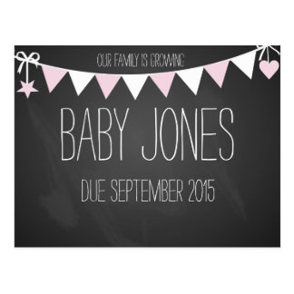 New baby announcement baby photo prop postcard