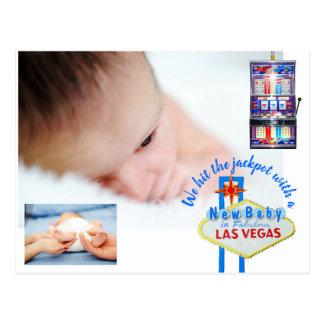 New Baby Announcement Las Vegas Postcard