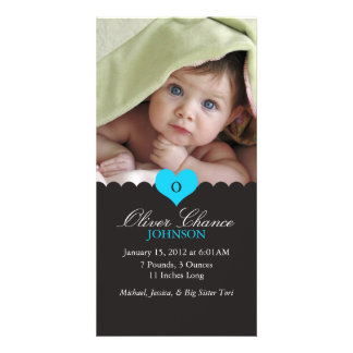 New Baby Birth Announcement Card