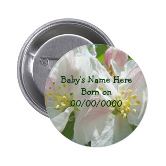 New Baby Born buttons Baby s Name Birth Date