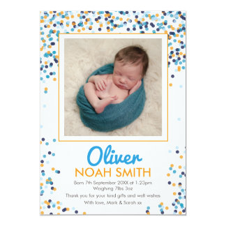 New baby boy announcement/thank you card