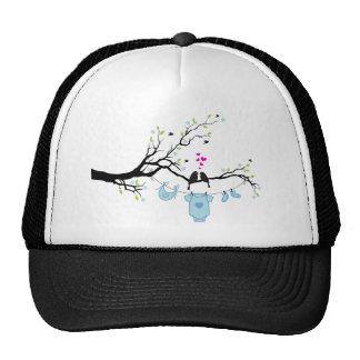 new baby boy, baby shower design mesh hats