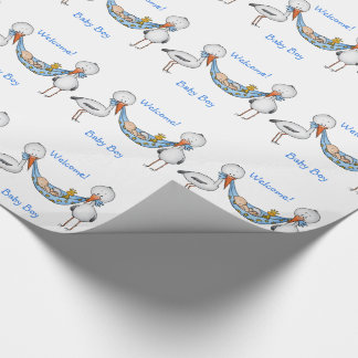 New Baby Boy - Baby Shower Gift Wrapping Paper