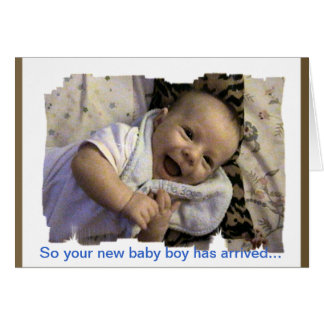 New Baby Boy Congratulations Card