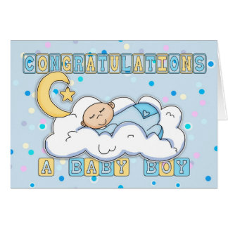 New Baby Boy Congratulations Greeting Card