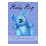 New Baby boy Congratulations Greeting Cards