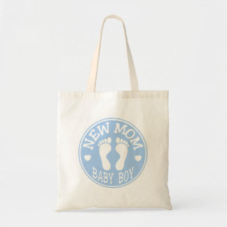 NEW BABY BOY MOM BUDGET TOTE BAG