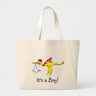 New baby boy Peeing on the stork! Tote Bag