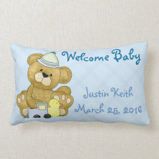 New Baby Boy Pillow