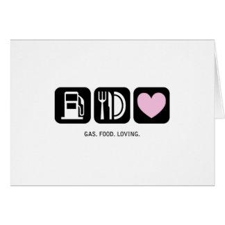 New Baby Card: Gas-Food-Loving (Girl) Card
