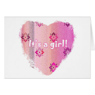 New Baby Card - It's a Girl!