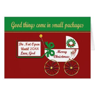 New baby Christmas card  Love God