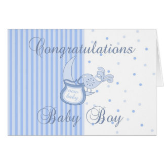 New Baby Congratulations - New Baby Boy Card