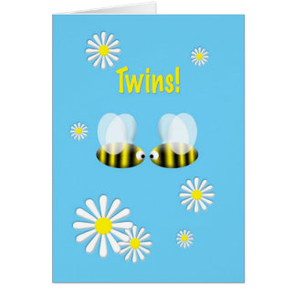 New Baby Congratulations Twins Boys Greeting Card
