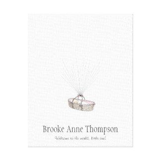New Baby Fingerprint Balloon Guestbook - Pink
