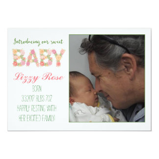 New Baby Floral Announcement