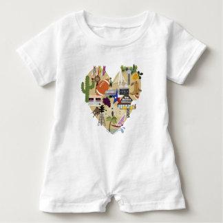 New Baby Gift Texas Romper Baby Bodysuit