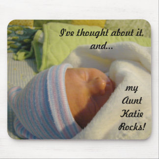 """New Baby gifts mousepads My Aunt """"Name"""" Rocks"""