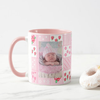 New Baby Girl Customized Photo Coffee Mug