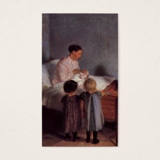 New baby little brother painting Dutch art Ancher Business Card