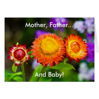 New Baby: Mother, Father, Baby Card