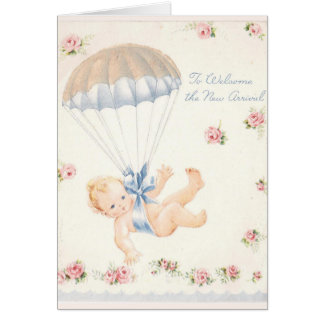 New Baby Parachute Card