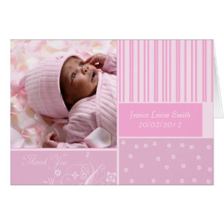 new baby thank you photo greeting card