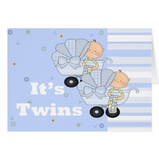 New Baby Twin Boys Cards
