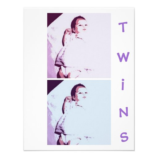 New Baby Twins Custom Invitation