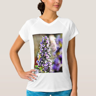 New Balance Women's Short Sleeve Purple Flower Tee