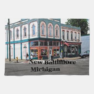 New Baltimore Michigan Tea Towel