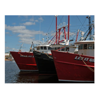 New Bedford Fishing Boats postcard