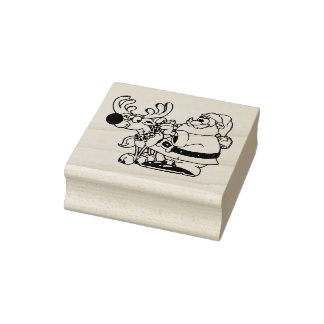 New Bells For Rudolph Christmas Rubber Stamp