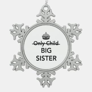 New Big Sister Pewter Snowflake Decoration