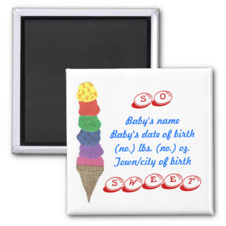 New birth announcement -- keepsake magnet