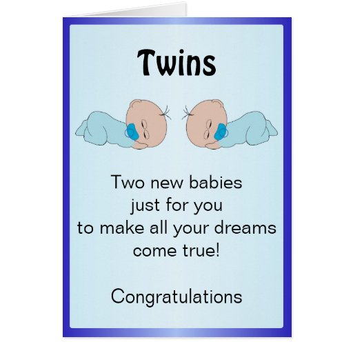 New Born Baby Twins Cards