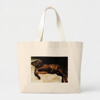 New-Born Calf Lying on Straw by Vincent van Gogh Jumbo Tote Bag