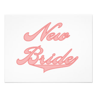 New Bride Pink Tshirts and Gifts Custom Invites