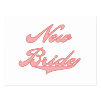 New Bride Pink Tshirts and Gifts Postcards