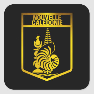 New Caledonia Emblem Square Sticker