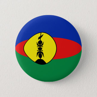 New Caledonia Fisheye Flag Button
