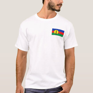 New Caledonia Flag and Map T-Shirt