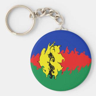 New Caledonia Gnarly Flag Basic Round Button Key Ring